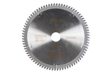 DEWALT DT4286-QZ Cirkelzaagblad 80-tands 216x30mm