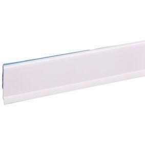 kunststof afwerkingsprofiel zelfkl wit 4x30x2600