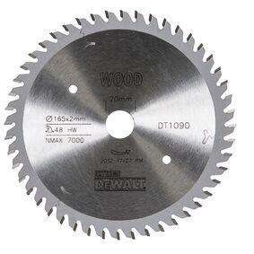 dewalt cirkelzaagblad 48tands dt1090-qz 165/20