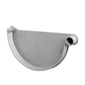 kraalgoot einddeksel rechts klem 125mm grijs