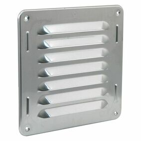 schoepenrooster aluminium 200x200mm rvs-kleur