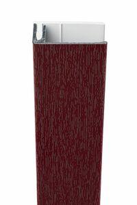 protex aluminium eindprofiel 2-delig wijnrood ral 3005 3000mm