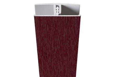 protex koppelprofiel wijnrood ral 3005 3000mm