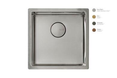 Krion Solid Surface Spoelbak SC602 E RVS Satin 400x400x212mm