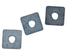 sluitplaat vierkant  (set van 25 stuks)