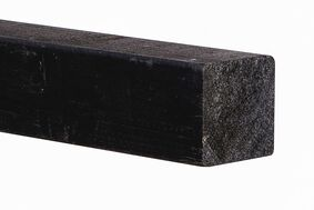 vuren ruw hoekverbinding verduurzaamd zwart 75x75x3000