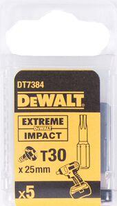 dewalt torx impact 25mm t30 dt7384-qz (set van 5 stuks)