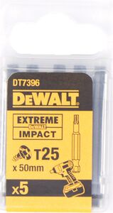 dewalt torx impact 50mm t25 dt7396-qz (set van 5 stuks)