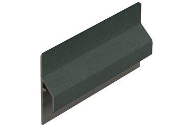 KERALIT 2843 Trim/Kraal Aansluitprofiel 10mm Donkergroen Classic Nerf 6000mm