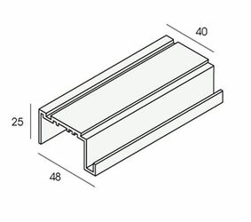 unipanel dakrand uitlijnprofiel 2449 aluminium 5500mm