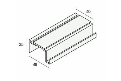UNIPANEL Uitlijnprofiel Dakrand 2449 Aluminium 5500mm