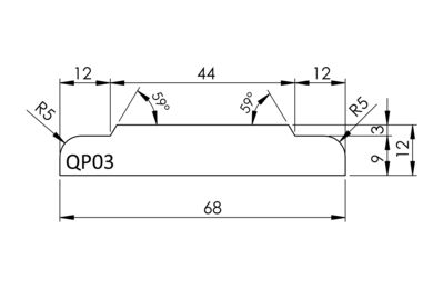 Architraaf QP03 Q-Pine Grenen FSC 13x70x4800mm