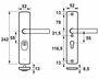 axa deurbeslag kruk/kruk 6665-10-11 55mm + kerntrekbeveiliging skg3