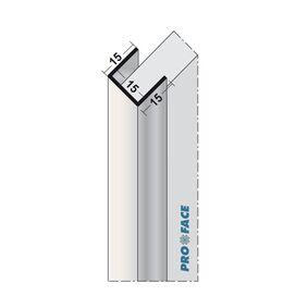 u-profiel aluminium 3000mm