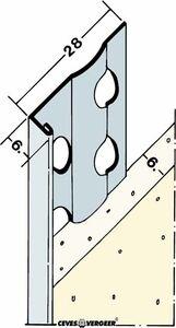 stucstopprofiel 1216s verzinkt staal wit 2600mm
