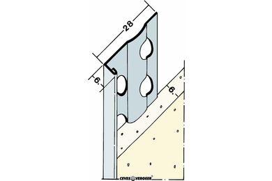 Stucstopprofiel 1216S Wit Verzinkt Staal 6x2600mm