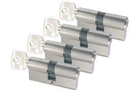 sx profielcilinder nikkel messing 4x gelijksluitend skg2 60mm
