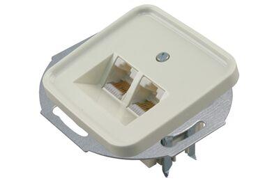 BUSCH-JAEGER Inbouw Contactdoos Tel/Dat Cat5 2x8-polig Polar Wit