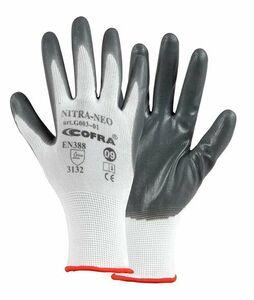handschoen nitrile gecoat wit/grijs maat 10