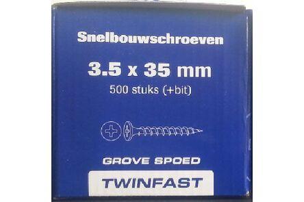 pontmeyer snelbouwschroeven twinfast grove spoed 3,5x35mm 500st