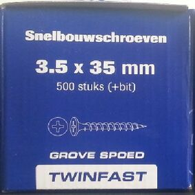 pontmeyer snelbouwschroeven twinfast grove spoed 3,5x35mm 500st