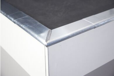 RHEINZINK Kliq Deklijst Hoekstukpakket Walsblank 0,65x250x250mm