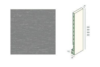KERALIT 2835 Dakrandpaneel 300mm Grijs Classic Nerf 10x350x6000mm