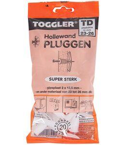 toggler td 23-26mm hollewandplug (set van 20 stuks)