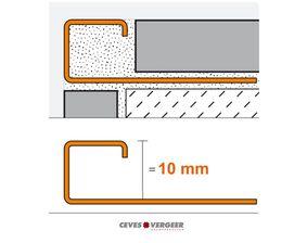 schluter tegelprofiel vierkant rvs geborsteld q100eb 10x3000mm