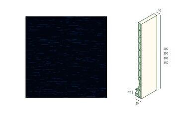 KERALIT 2825 Dakrandpaneel 250mm Monumentenblauw Classic Nerf 10x250x6000mm