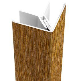 protex alu buitenhoekprofiel golden oak 3000mm