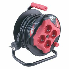 kabelhaspel vinyl 3x1mm² zwart/rood 10m