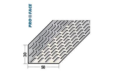 Proface Ventilatieprofiel Geperforeerd Zwart Aluminium 30x50x2500mm