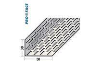 proface ventilatieprofiel aluminium zwart geperforeerd 30x50x2500
