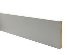 q-pine plint afgelakt ral 9010 18x120x4800