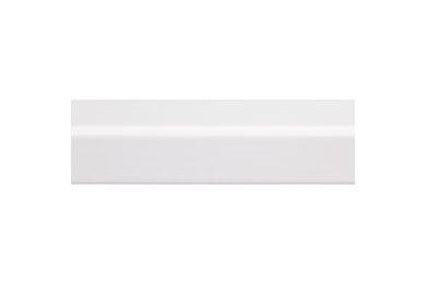 Grenen Hoeklat Geschaafd Gelakt Wit FSC 27x27x2700mm