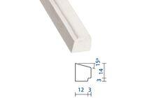 Meranti Glaslat GL6 Gegrond FSC 17x15x4900mm