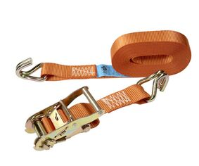 sjorband ratel met gesloten draadhaak 35mm oranje 6m