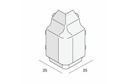 keralit hoekstuk sierlijst 2852 v 2850 classic wit 9016