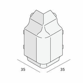 keralit sierlijst hoekstuk 2852 v 2850 golden oak