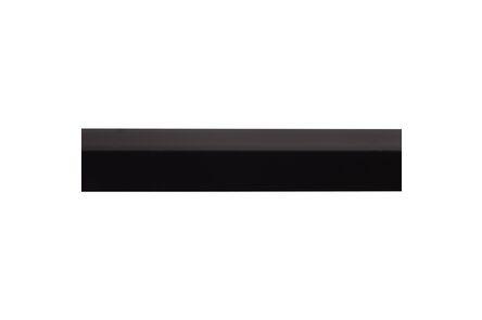 kunststof hoekprofiel zwart 20x20x2600