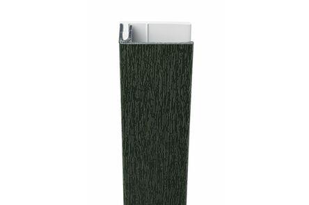 protex aluminium eindprofiel 2-delig monumentengroen 3000mm