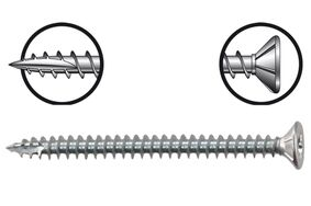 starx spaanplaatschroef platkop pozidriv 100st