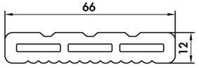 upm profi deck 150 afdekstrip steengrijs 12x66x4000