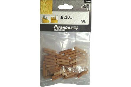 deuvel 6mm kleinverpakking (set van 50 stuks)