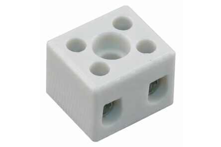 kroonsteen porselein 2-polig 6mm² (set van 4 stuks)