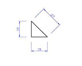 vuren beton driehoek bd2 19x19x3900
