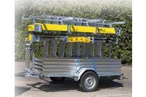 boss actierolsteiger inclusief aanhanger 420/620cm