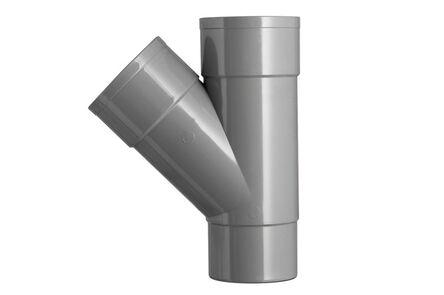 PVC HWA T-stuk 45° 2x lijmmof vernauwd spie eind 70mm