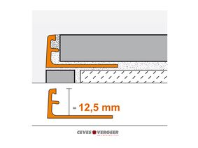 schluter tegelprofiel aluminium recht 12,5x3000mm wit